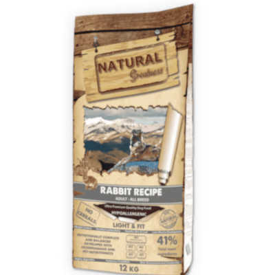 natural greatness pienso para perros rabbit conejo