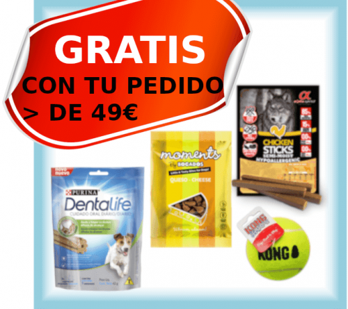 regalo snacks pienso a domicilio gosygat